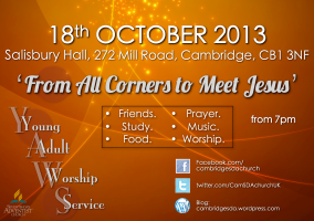 Young Adult Worship Service Cambridge
