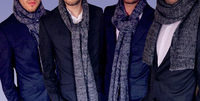 manly ways to tie a scarf