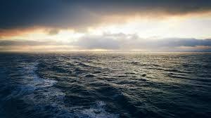ship in rough sea