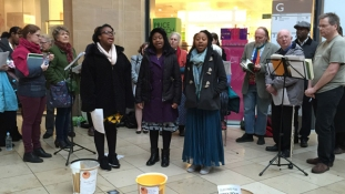 Fundraising for the Soup Kitchen at the Grand Arcade